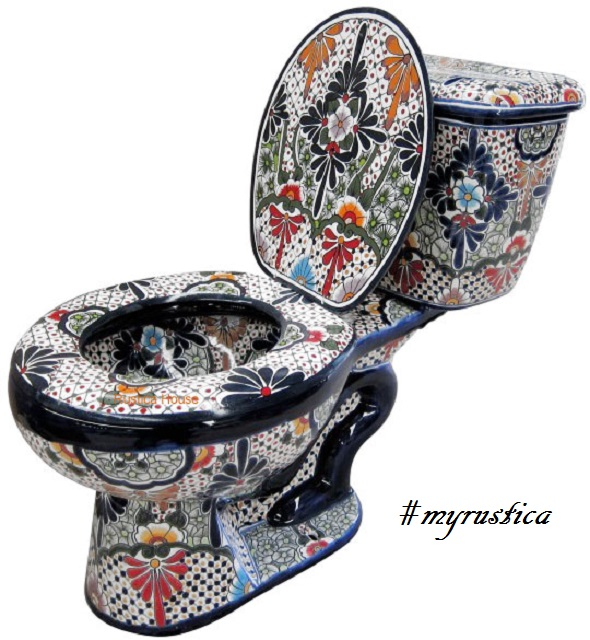 decorative toilet lead from Mexico