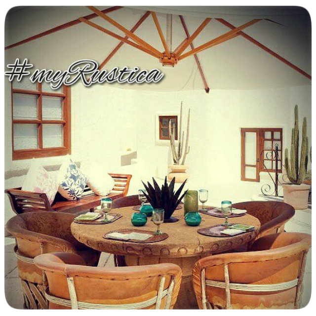 rustic equipal furniture from Mexico