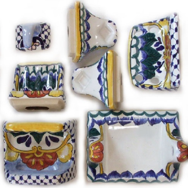 bath toilets and handmade wall accessories from mexico